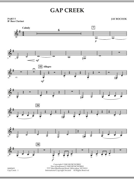Gap Creek - Pt.5 - Bb Bass Clarinet (Concert Band: Flex-Band)