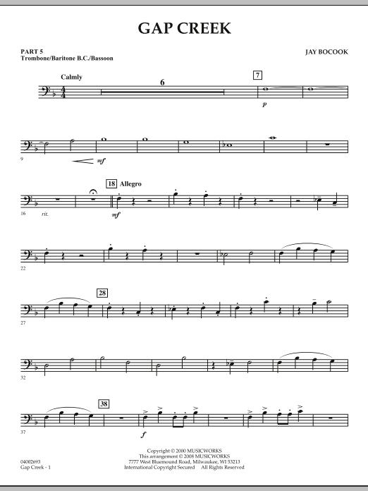 Gap Creek - Pt.5 - Trombone/Bar. B.C./Bsn. (Concert Band: Flex-Band)