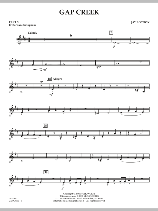 Gap Creek - Pt.5 - Eb Baritone Saxophone (Concert Band: Flex-Band)