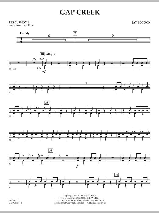 Gap Creek - Percussion 1 (Concert Band: Flex-Band)
