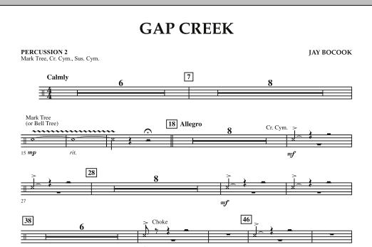 Gap Creek - Percussion 2 (Concert Band: Flex-Band)