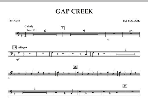 Gap Creek - Timpani (Concert Band: Flex-Band)