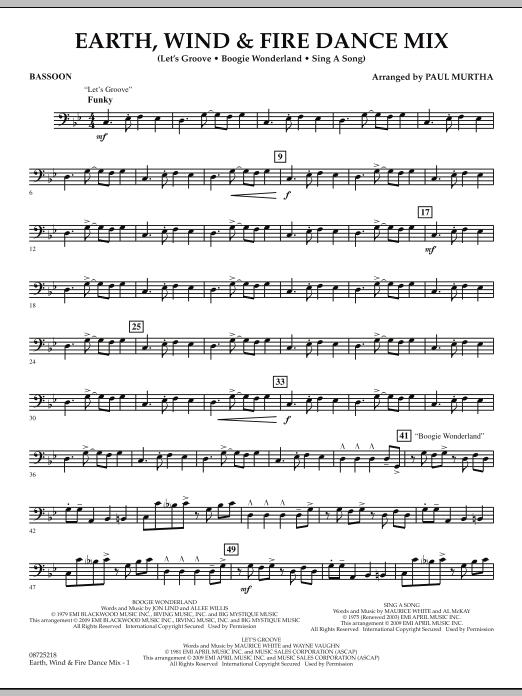 Earth, Wind & Fire Dance Mix - Bassoon (Concert Band)
