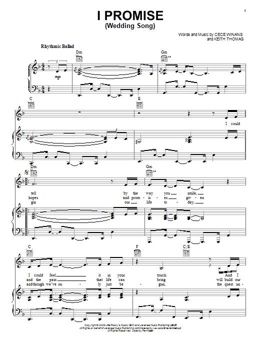 I Promise (Wedding Song) Sheet Music