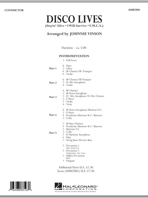 Disco Lives - Conductor Score (Full Score) (Concert Band: Flex-Band)