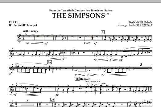 The Simpsons - Pt.1 - Bb Clarinet/Bb Trumpet (Flex-Band)