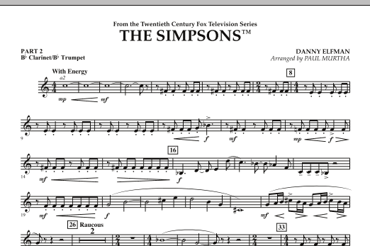 The Simpsons - Pt.2 - Bb Clarinet/Bb Trumpet (Flex-Band)