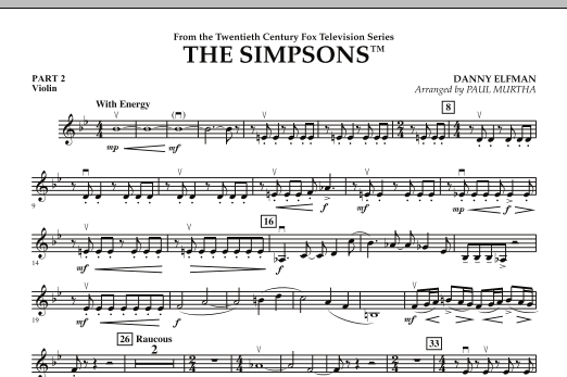 page one of The Simpsons - Pt.2 - ViolinASALTTEXT