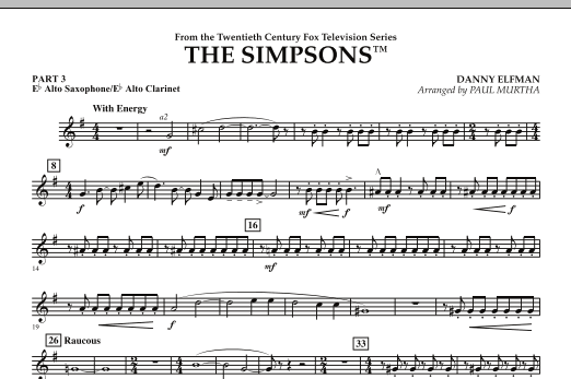 The Simpsons - Pt.3 - Eb Alto Sax/Alto Clar. (Flex-Band)