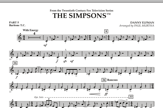 The Simpsons - Pt.5 - Baritone T.C. (Concert Band)