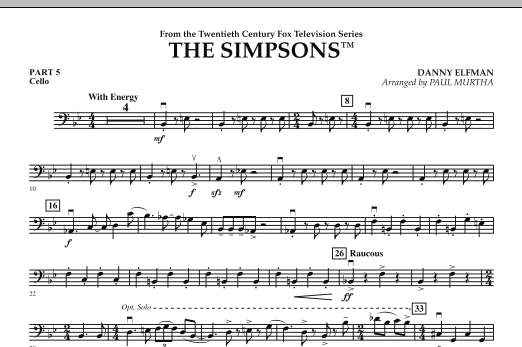 page one of The Simpsons - Pt.5 - CelloASALTTEXT