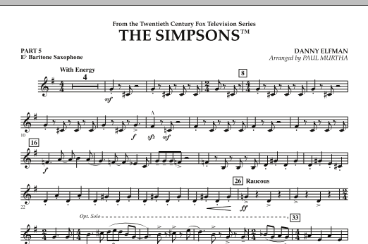The Simpsons - Pt.5 - Eb Baritone Saxophone (Flex-Band)