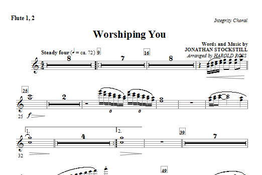 Worshiping You - Flute 1 & 2 Sheet Music