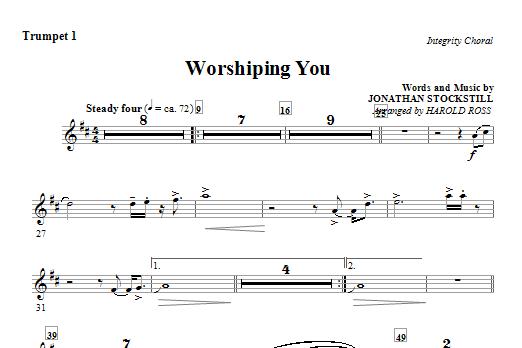 Worshiping You - Trumpet 1 (Choir Instrumental Pak)