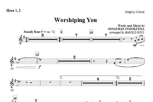 Worshiping You - Horn 1 & 2 (Choir Instrumental Pak)