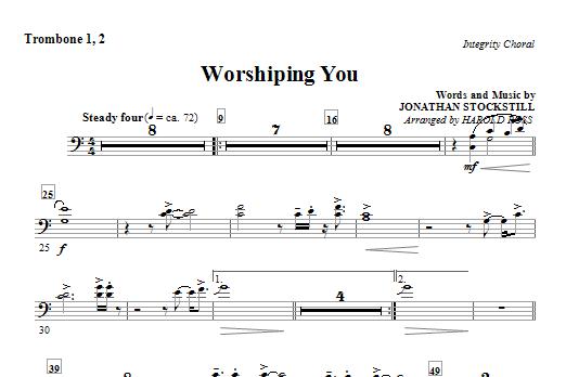 Worshiping You - Trombone 1 & 2 (Choir Instrumental Pak)