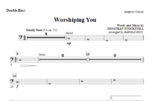 Worshiping You - Double Bass (Choir Instrumental Pak)