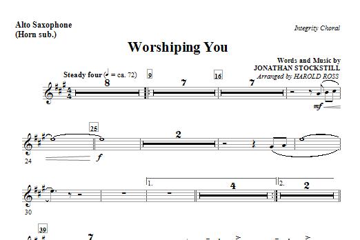 Worshiping You - Alto Sax (Horn sub.) (Choir Instrumental Pak)