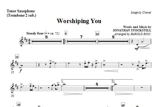 Worshiping You - Tenor Sax (Trombone 2 sub.) (Choir Instrumental Pak)