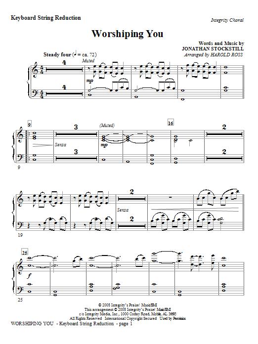 Worshiping You - Keyboard String Reduction Sheet Music
