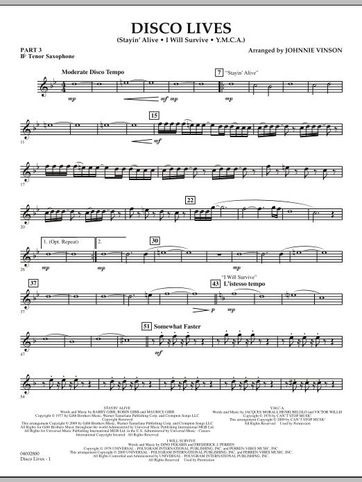Disco Lives - Pt.3 - Bb Tenor Saxophone (Concert Band: Flex-Band)