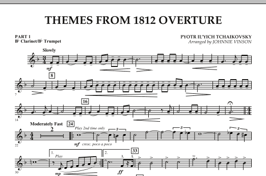 Themes from 1812 Overture - Pt.1 - Bb Clarinet/Bb Trumpet (Concert Band: Flex-Band)