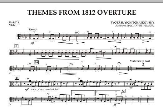 Themes from 1812 Overture - Pt.3 - Viola (Concert Band)