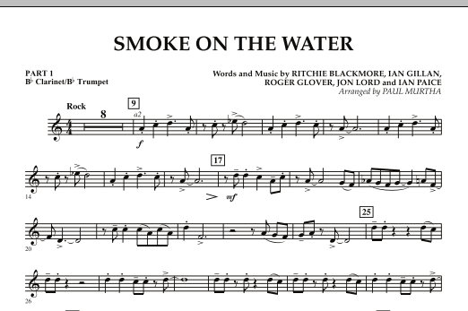 Smoke on the Water - Pt.1 - Bb Clarinet/Bb Trumpet (Concert Band)