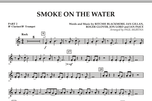 Smoke on the Water - Pt.2 - Bb Clarinet/Bb Trumpet (Flex-Band)