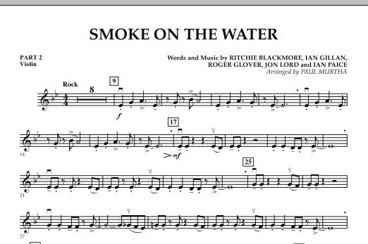 Smoke on the Water - Pt.2 - Violin (Concert Band)