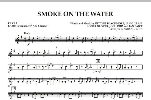 Smoke on the Water - Pt.3 - Eb Alto Sax/Alto Clar. (Flex-Band)