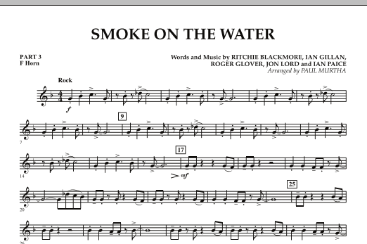 Smoke on the Water - Pt.3 - F Horn (Concert Band)