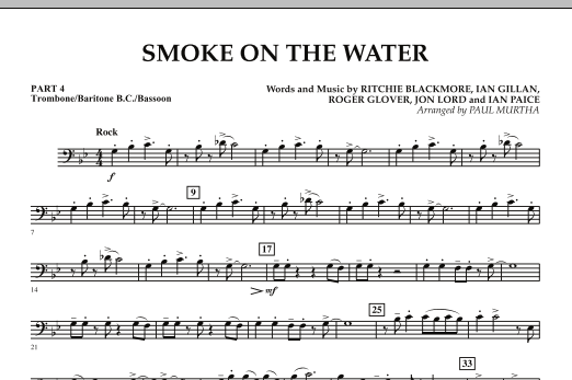 Guitar guitar tabs smoke on the water : Smoke on the Water - Pt.4 - Trombone/Bar. B.C./Bsn. - Sheet Music ...