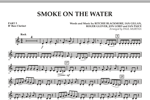 Smoke on the Water - Pt.5 - Bb Bass Clarinet (Concert Band)