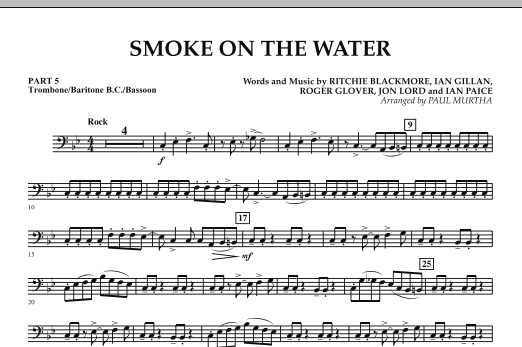 Smoke on the Water - Pt.5 - Trombone/Bar. B.C./Bsn. (Concert Band: Flex-Band)