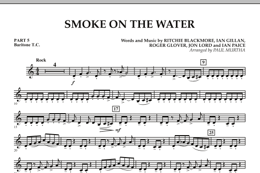 Smoke on the Water - Pt.5 - Baritone T.C. (Concert Band)