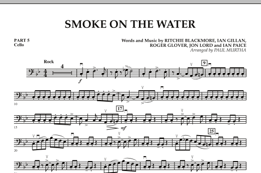 Smoke on the Water - Pt.5 - Cello (Concert Band)