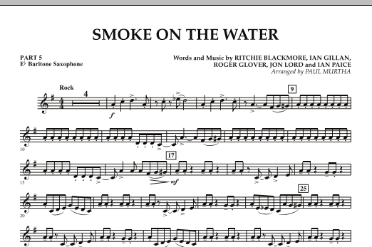 Smoke on the Water - Pt.5 - Eb Bartione Saxophone (Concert Band)
