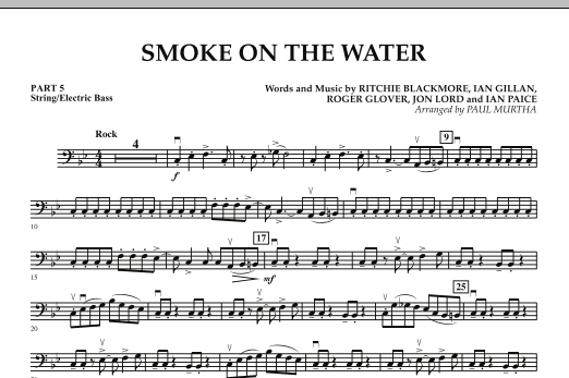 Smoke on the Water - Pt.5 - String/Electric Bass (Concert Band: Flex-Band)