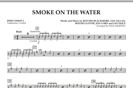 Smoke on the Water - Percussion 2 (Flex-Band)