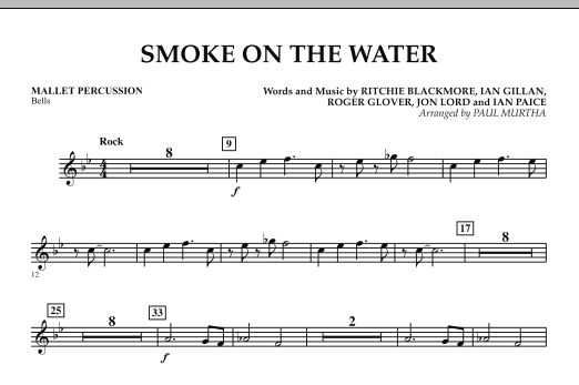 Smoke on the Water - Mallet Percussion (Concert Band)