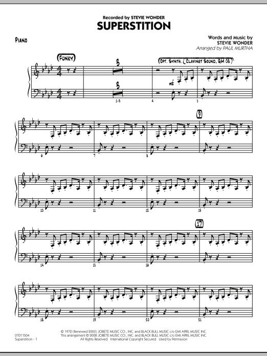 Superstition - Piano (Jazz Ensemble)