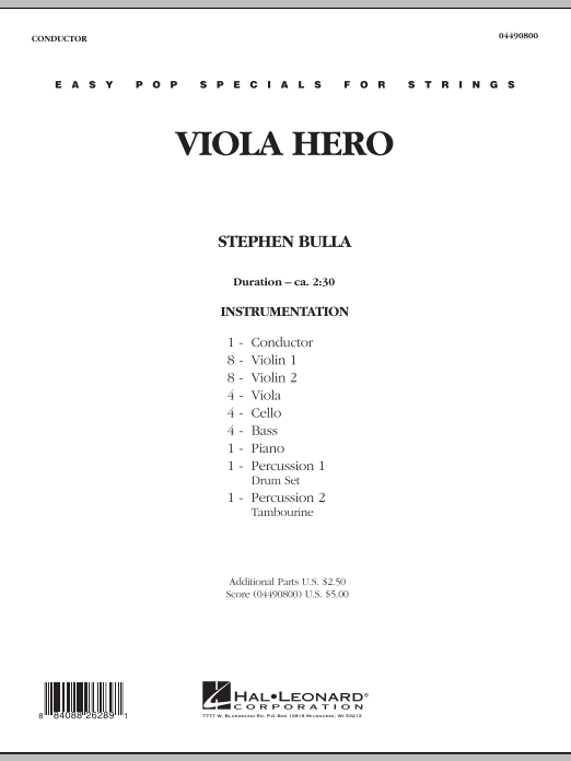 Viola Hero (COMPLETE) sheet music for orchestra by Stephen Bulla. Score Image Preview.