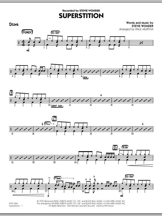 Superstition - Drums (Jazz Ensemble)