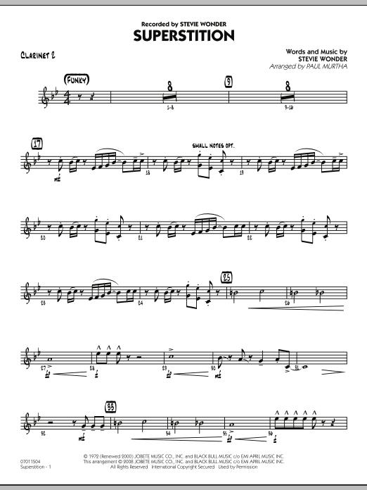 Superstition - Bb Clarinet 2 (Jazz Ensemble)