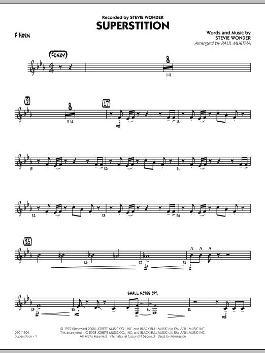 Superstition - F Horn (Jazz Ensemble)