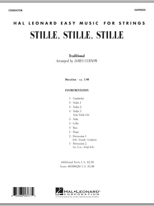 Stille, Stille, Stille (COMPLETE) sheet music for orchestra by James Curnow. Score Image Preview.
