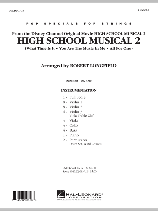 High School Musical 2 (COMPLETE) sheet music for orchestra by Robert Longfield, Jamie Houston, Matthew Gerrard and Robbie Nevil. Score Image Preview.