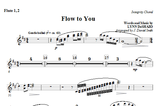 Flow To You - Flute 1 & 2 Sheet Music