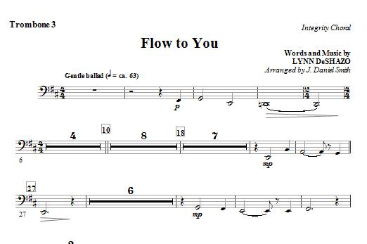 Flow To You - Trombone 3 Sheet Music